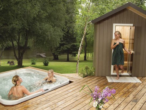 Traditional Outdoor Saunas Patio Series